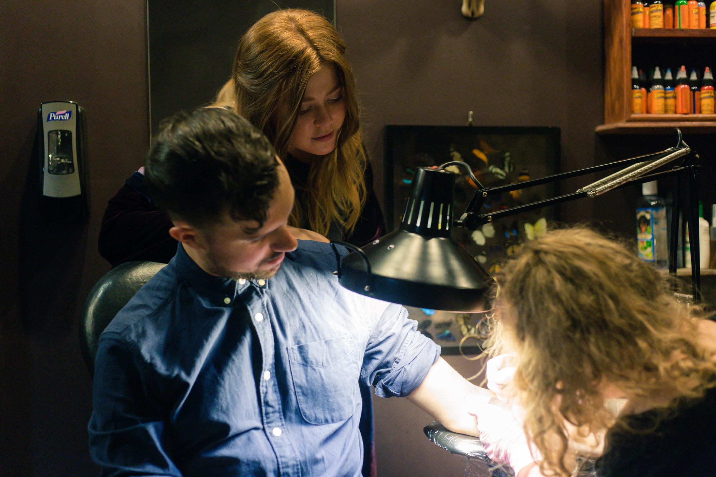 Kate-Alison-Photography-Gowanus-Brooklyn-Tattoo-Shop-Engagement-Session
