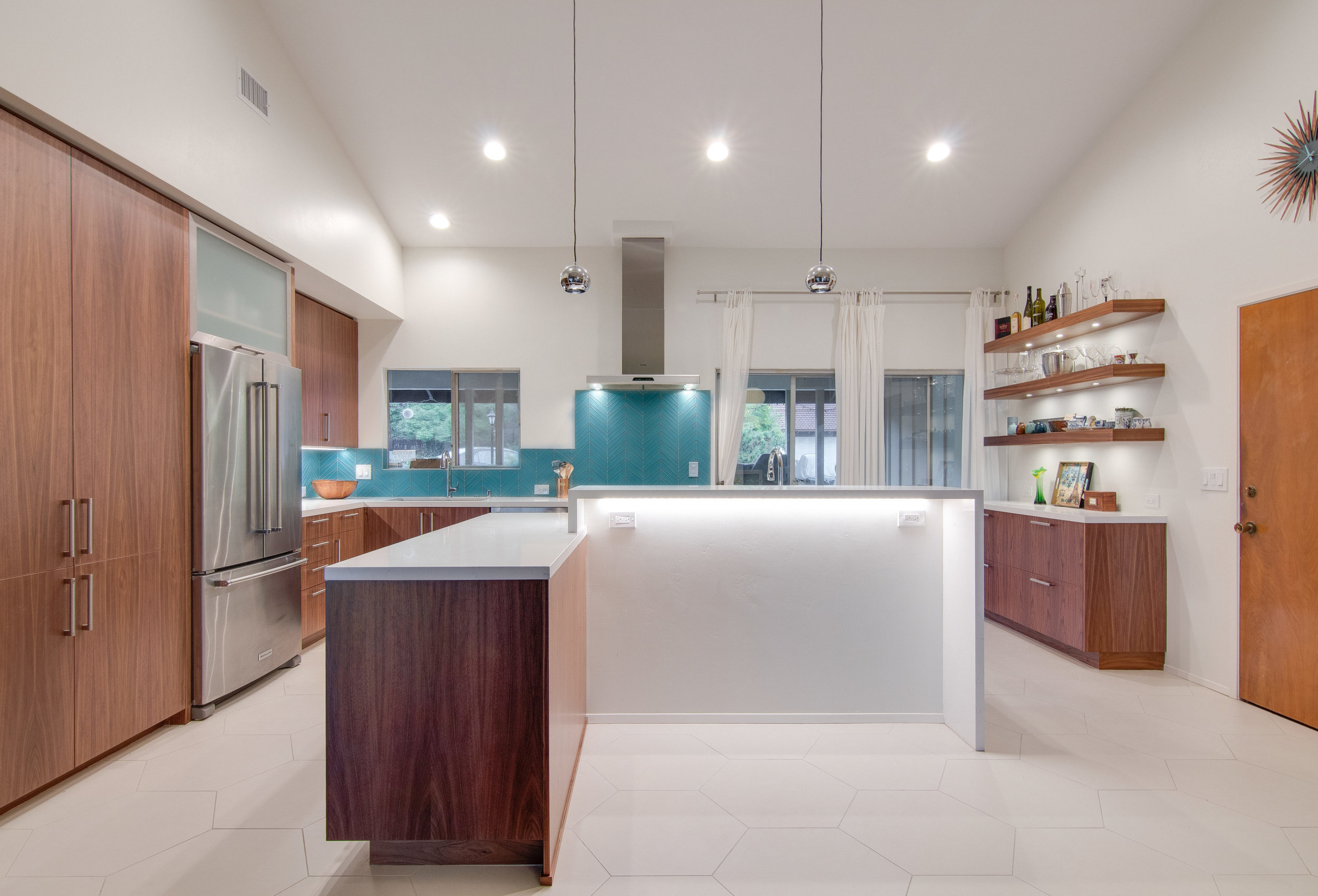 MidCentury Modern Walnut Kitchen
