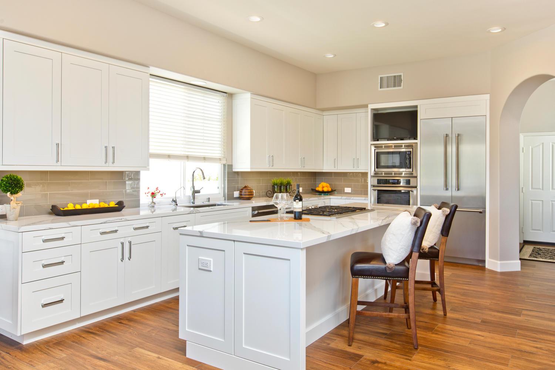 White Shaker Contemporary Kitchen