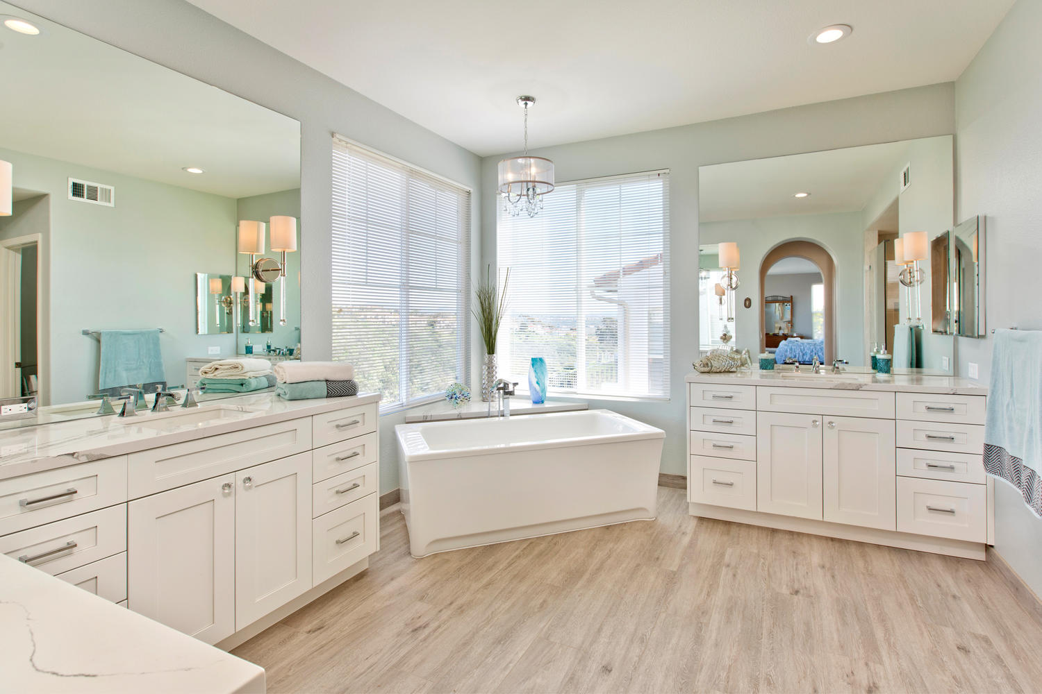 Luxurious White Shaker Master Bath