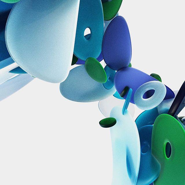 Sea glass 🌊  #mograph #motiongraphics #motiondesign #design #C4D #cinema4d #maxon #3D #render #octane #octanerender #bmorecreatives #bmoreart #mdmotiondesign