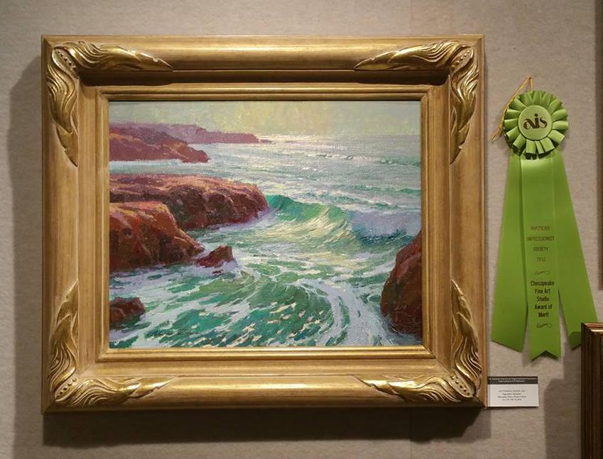"""""""Morning Glare, Point Lobos"""", 16x20, oil on linen"""
