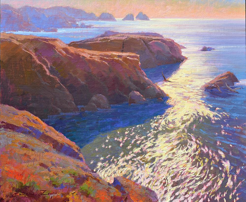 Point Lobos, 20x24, oil on linen board