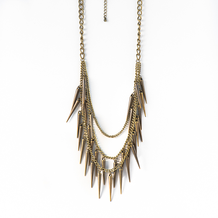 Shut Up I Love This Birds Of A Feather Gold Horns Necklace