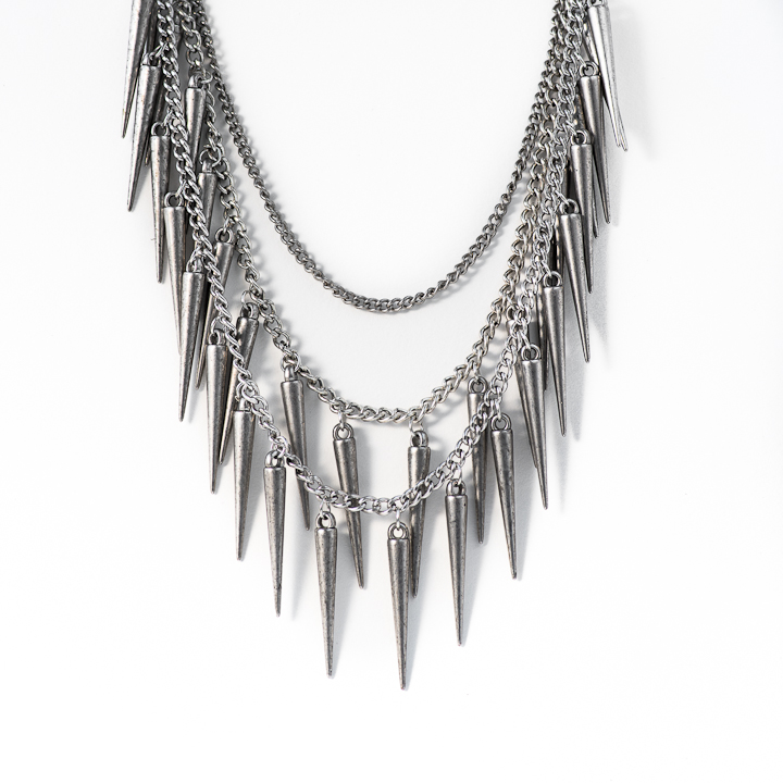 Shut Up I Love This Birds Of A Feather Silver Horns Necklace
