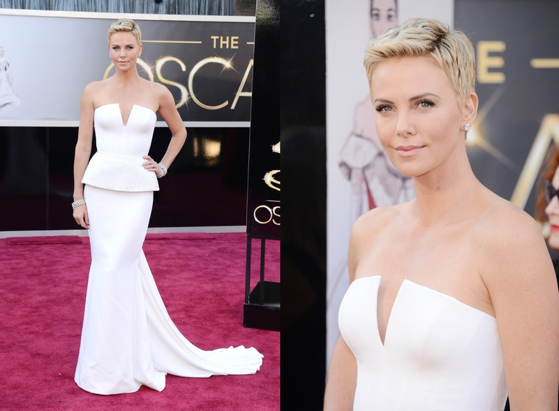 Partly Sunny Oscars Best Dressed Charlize Theron Dior