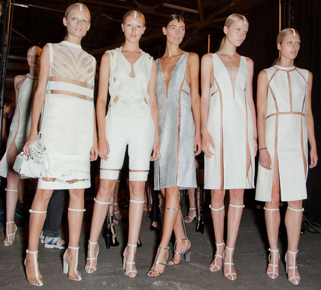 Partly Sunny Alexander Wang Spring Summer 2013 White Cut Out Trend