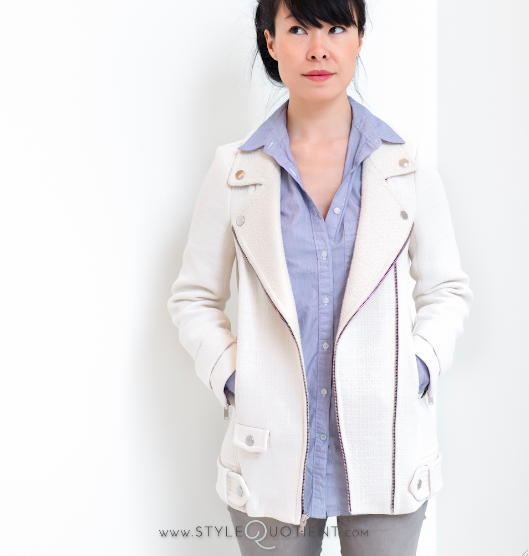 Partly Sunny Style Quotient Zara White Jacket