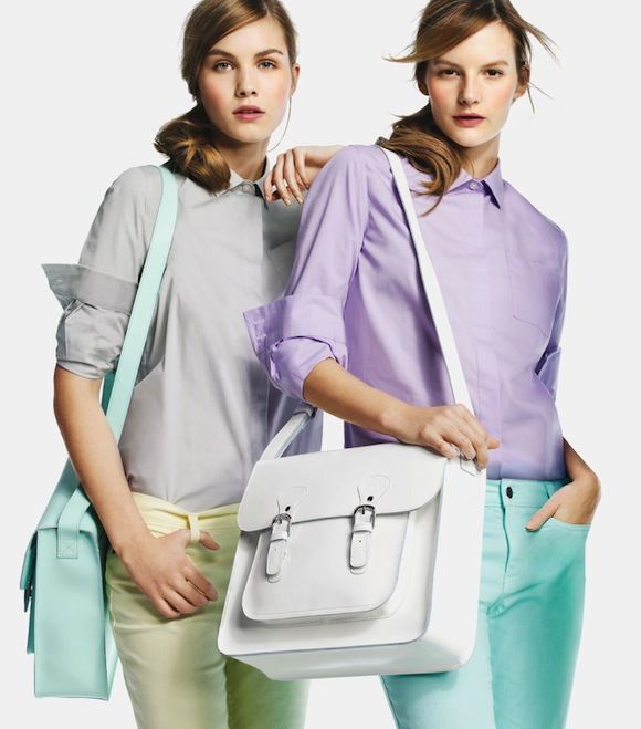 Partly Sunny Joe Fresh White Leather Bag Spring 2013
