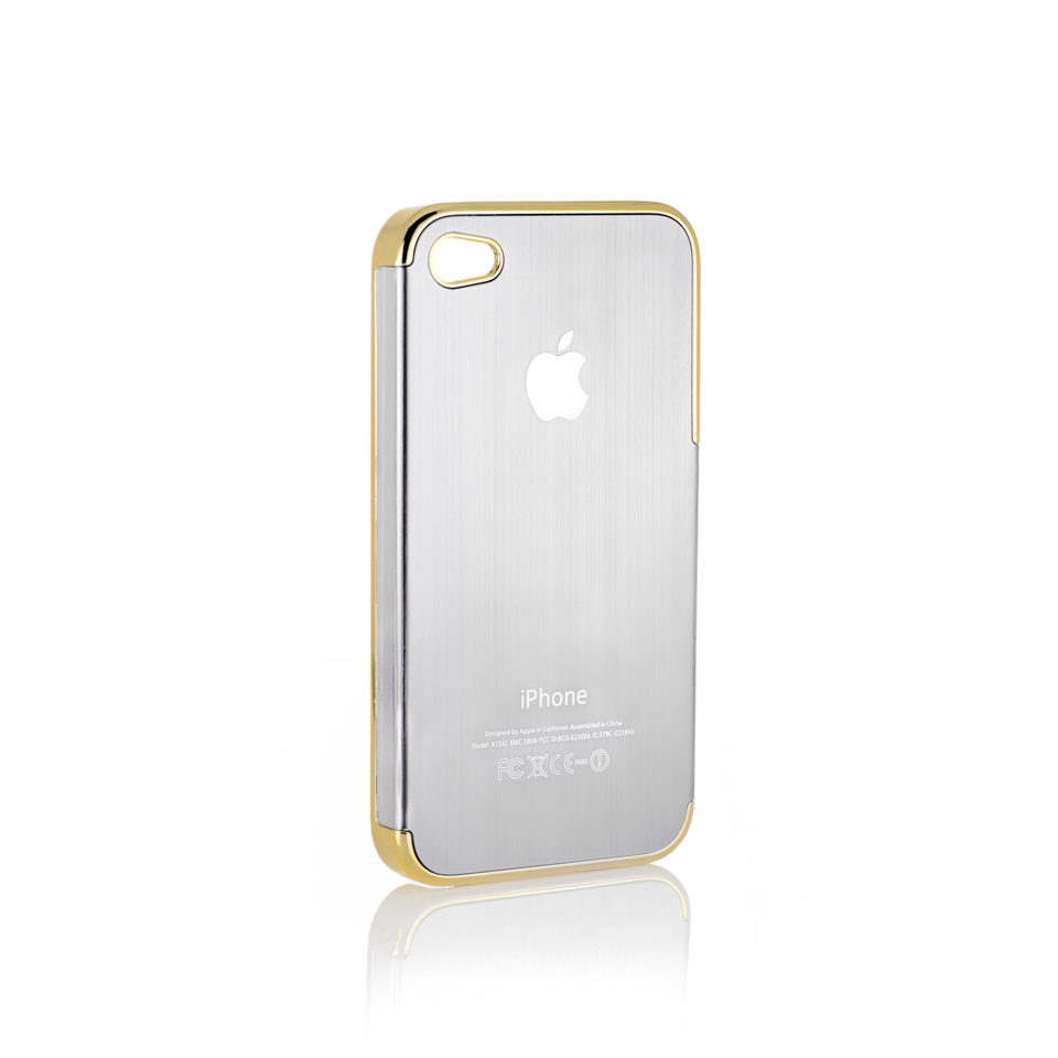 Shut Up I Love This iPhone4 Case Silver Metal