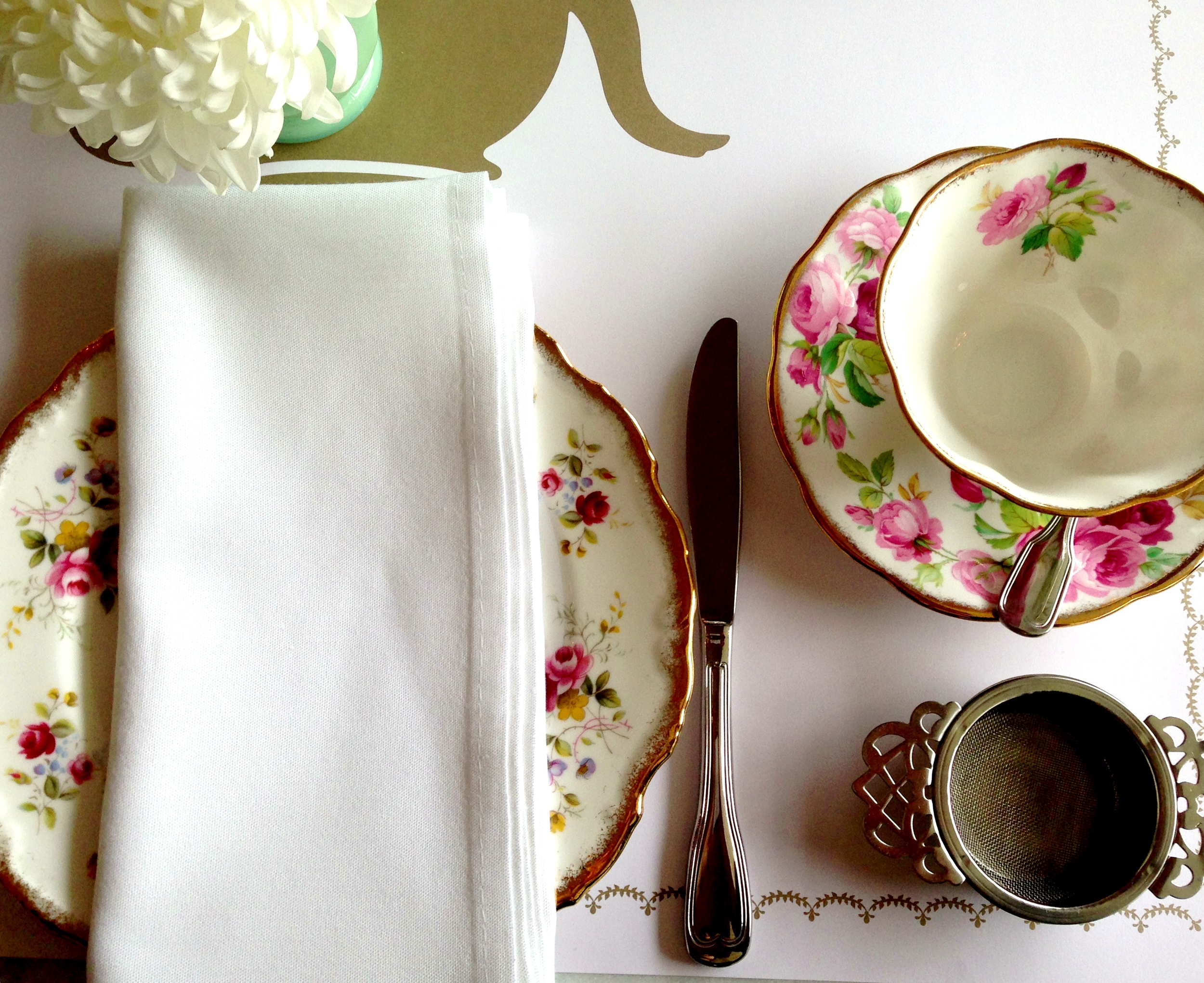 Partly Sunny Butter Floral Tea China
