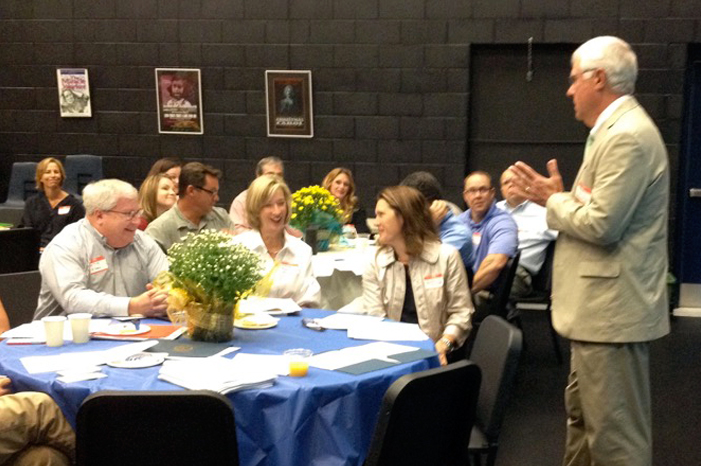 Bob Hallett  speaking to Trustees and Heads of the Kentucky Association of Independent Schools