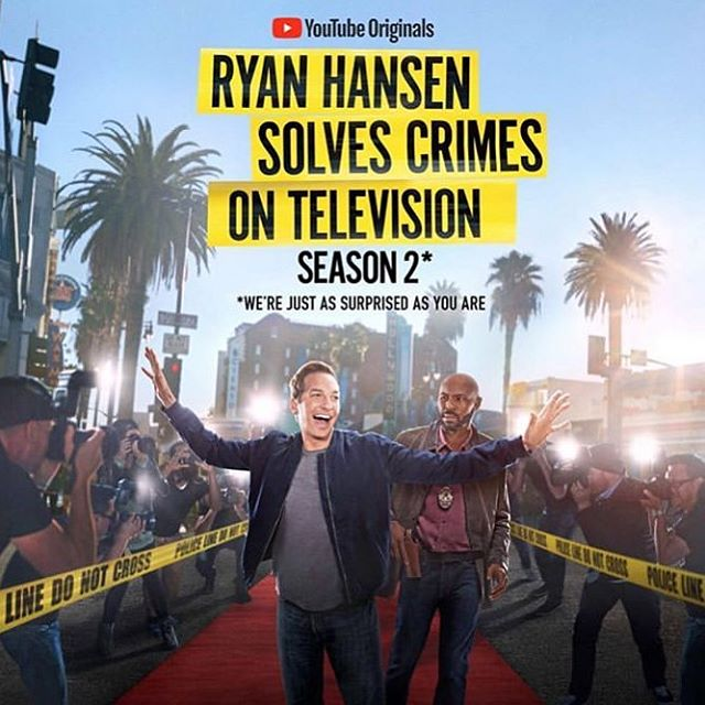 So they let us do it again?!?... Season 2 up now! It was a pleasure to work on this show with so many talented folks. The show is hilarious...check it out!! #ryanhansensolvescrimesontelevision #youtube