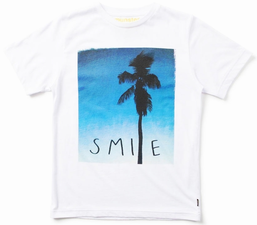 MUNSTERKIDS Smile T-Shirt White