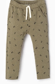 ZARA PLUSH SKULL TROUSERS