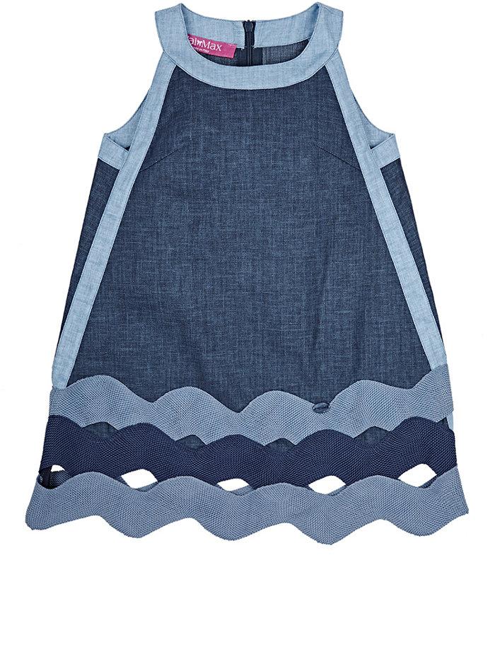 VAL & MAX  Denim Sleeveless Dress