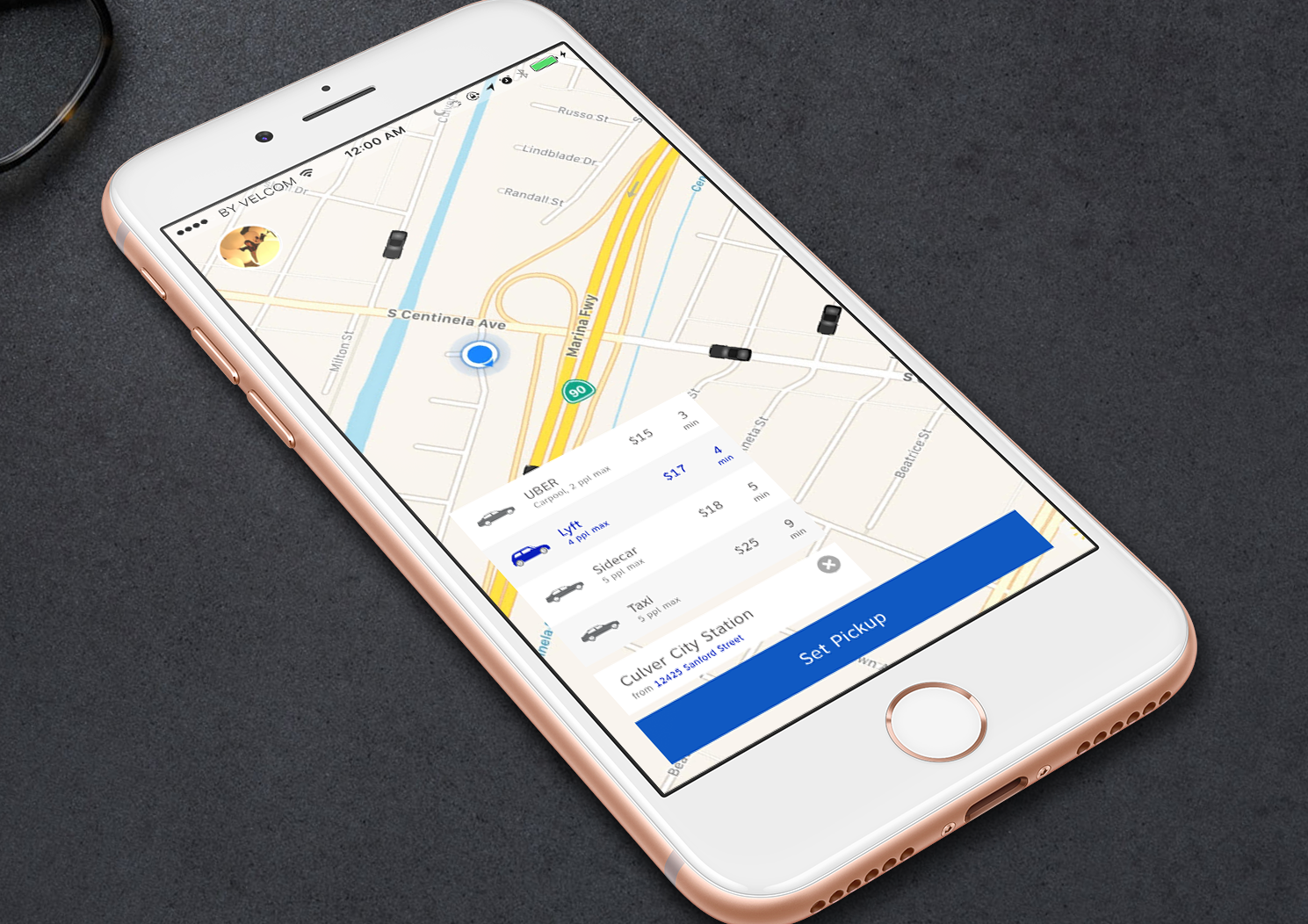 Ride Wizard - An app that compares fares amongst ride services so that users can find the best price conveniently.