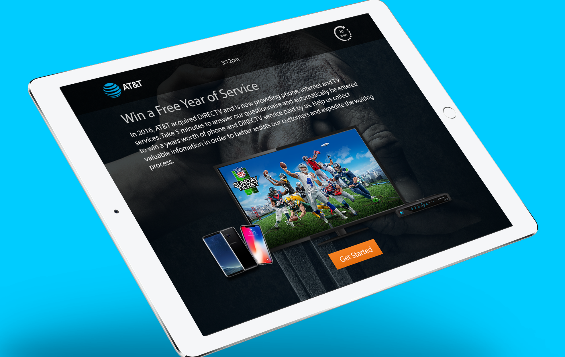 In-store Experience Redesign - A survey app that will help provide a better in-store experience for AT&T customers as well as inform them about DIRECTV products.