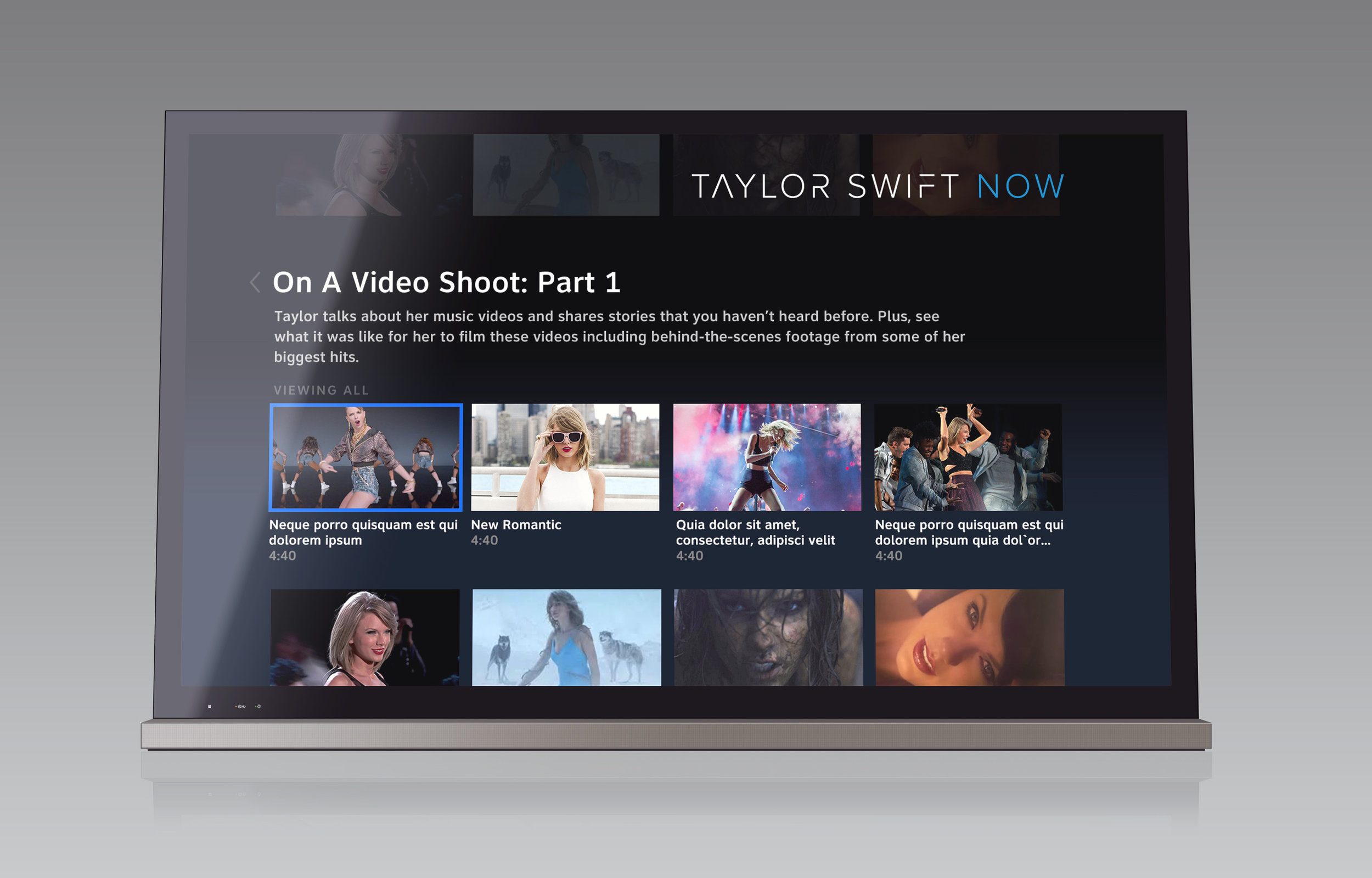 Taylor Swift - Taylor Swift NOW provides fans with video footage all relating to Taylor so that fans can stay engaged with her. It is a unique experience for DIRECTV and AT&T U-Verse subscribers.