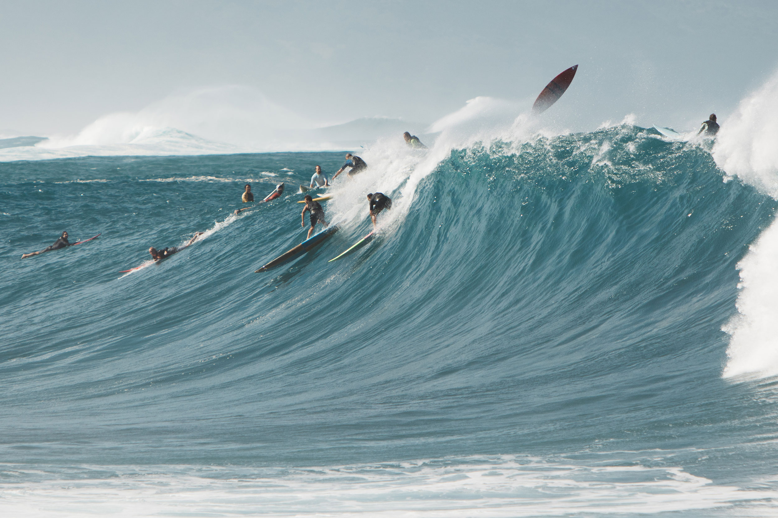 Big wave riders
