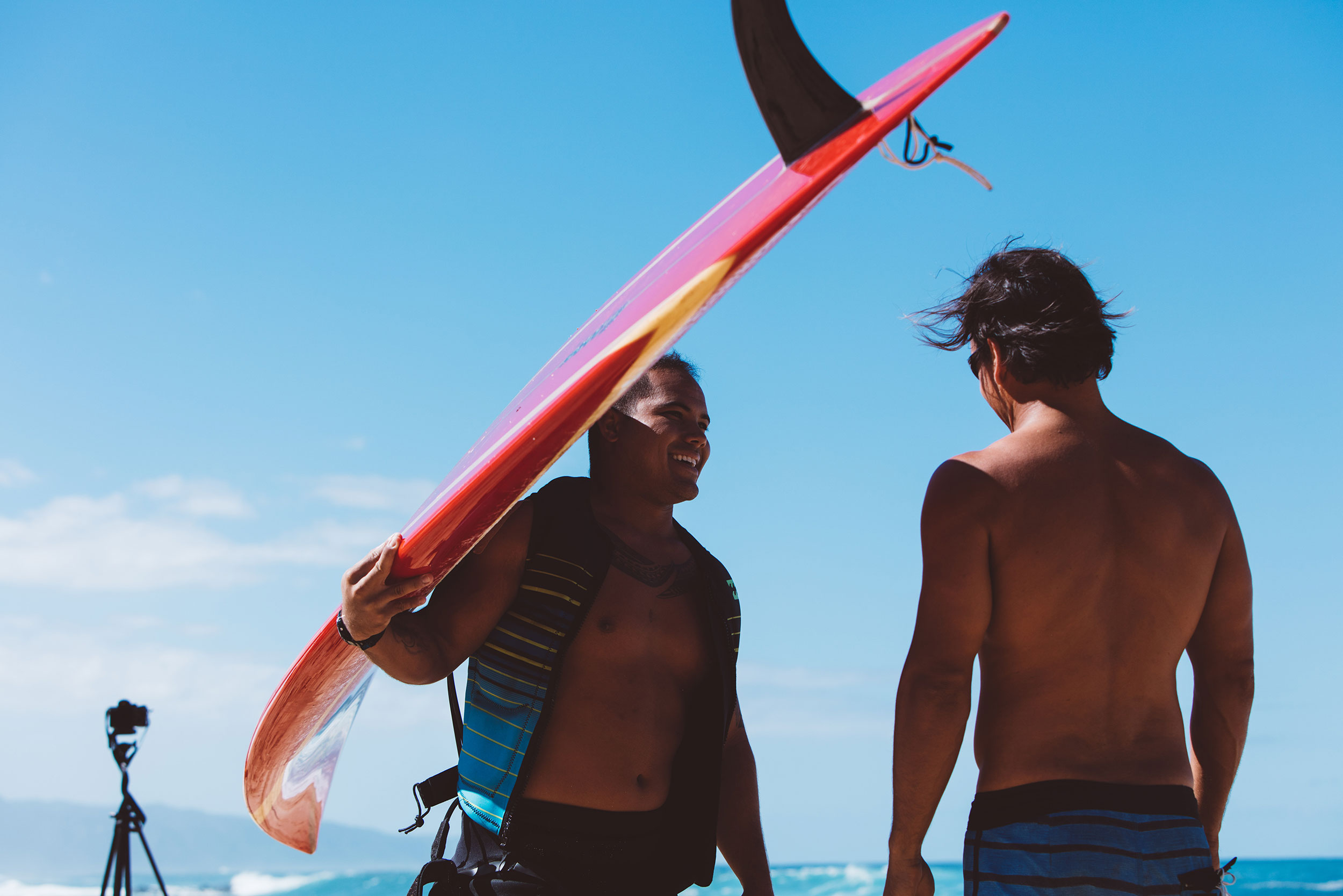 Local surfers