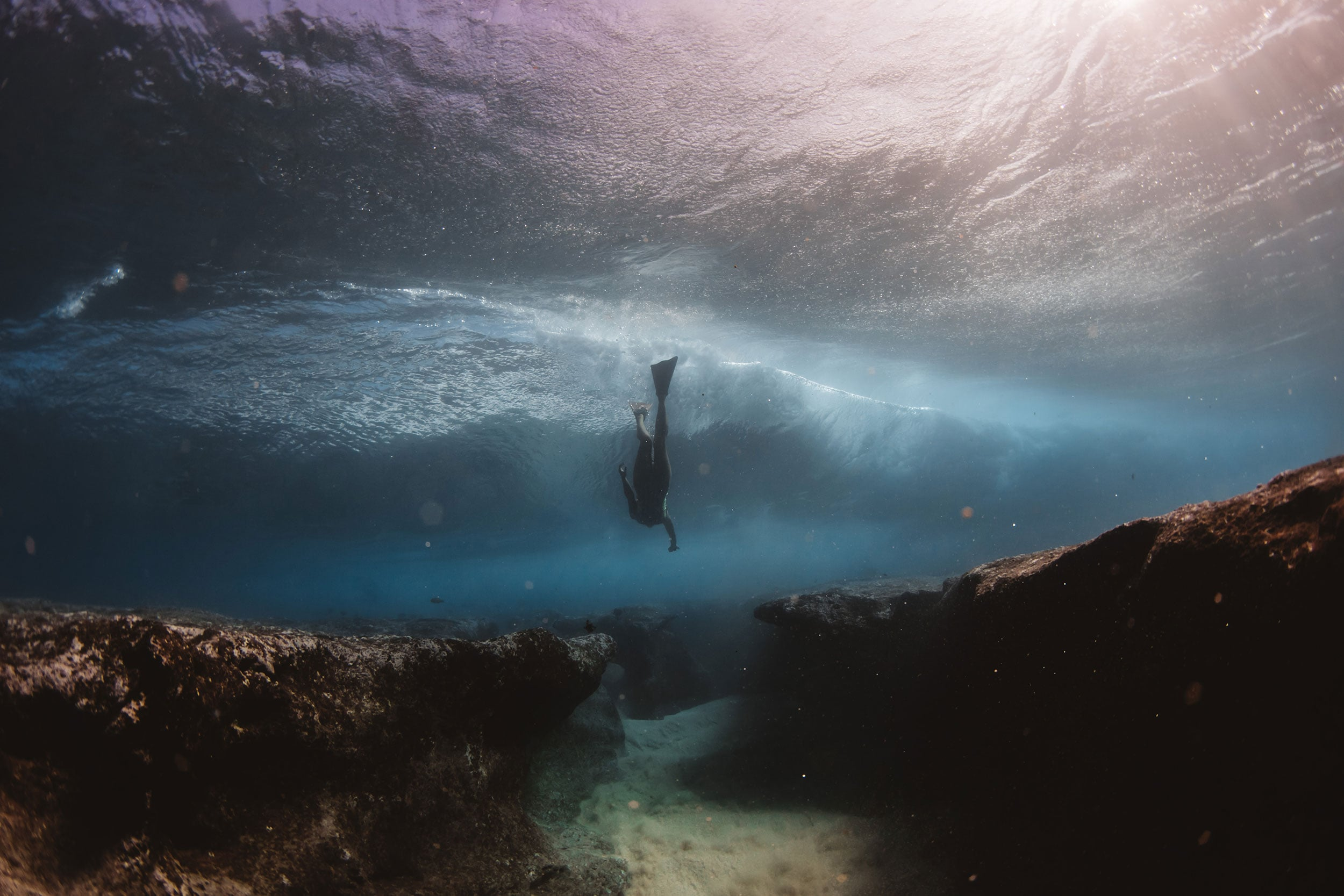 swimming to the caves pipeline - matt porteous