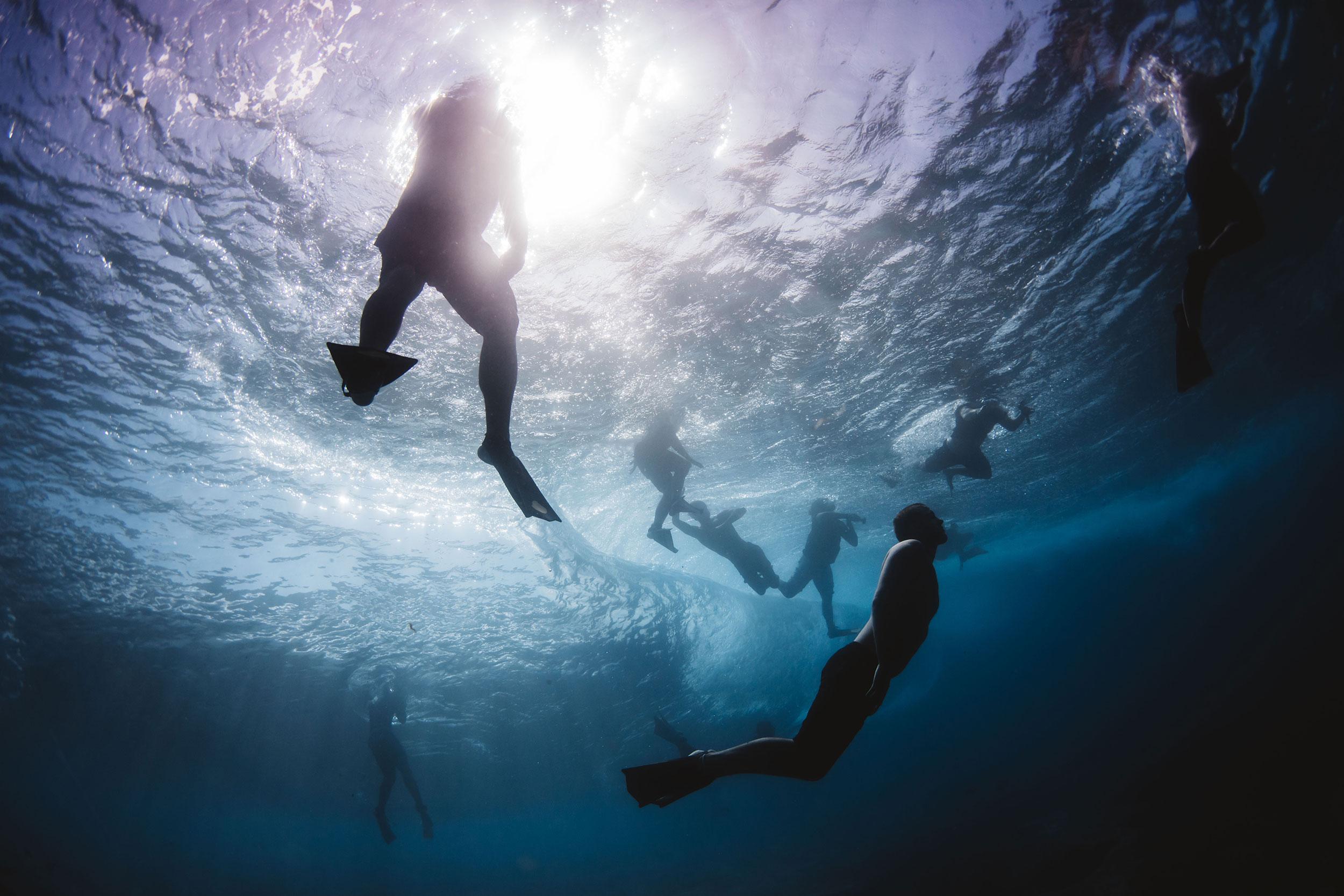below the waves, pipeline hawaii
