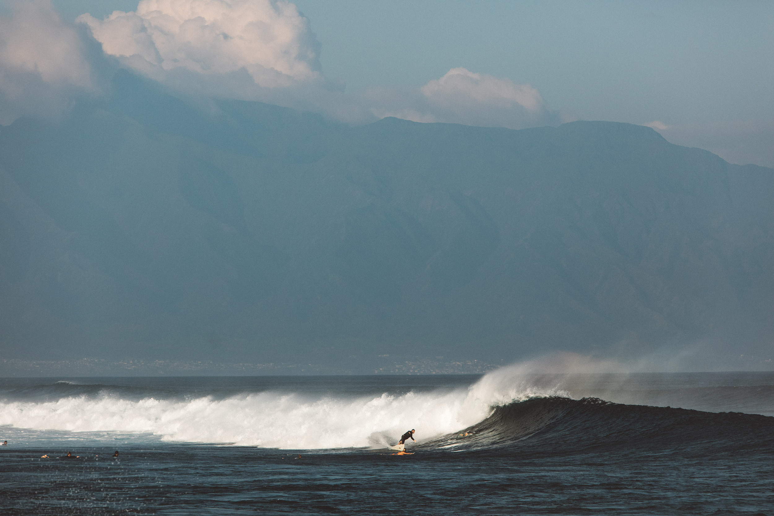 one of a set travelling around Maui one the Hawaiian islands road tripping photography of huge waves at Maui's famous Jaws    peahi big wave surfer dramatic coast line beautiful beaches on maui perfect waves freediving turtles living the wanderlust dream of travel and exploration