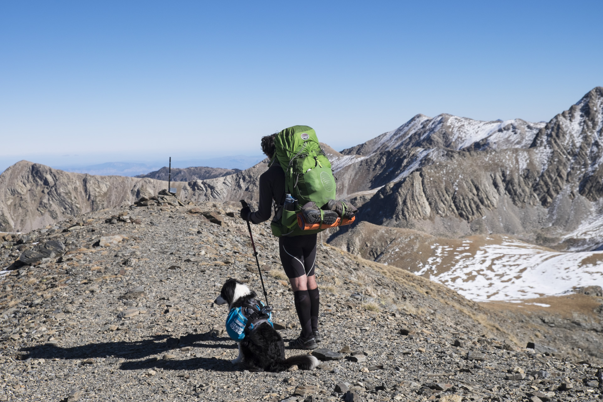 The last high pass of the trail after Nuria.