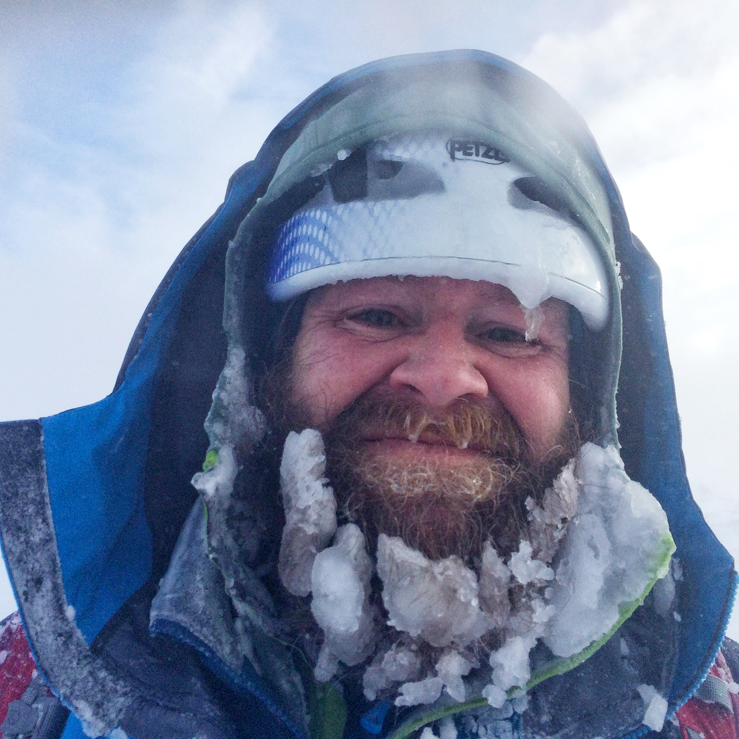 Alan assured us his icy beard provided extra insulation.