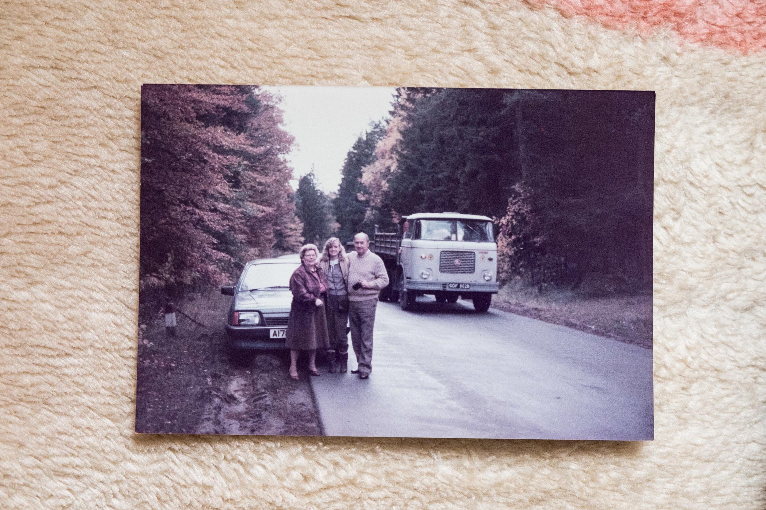Mum, Nana and Dziadek on their way to the farm (Dad was taking the photo).