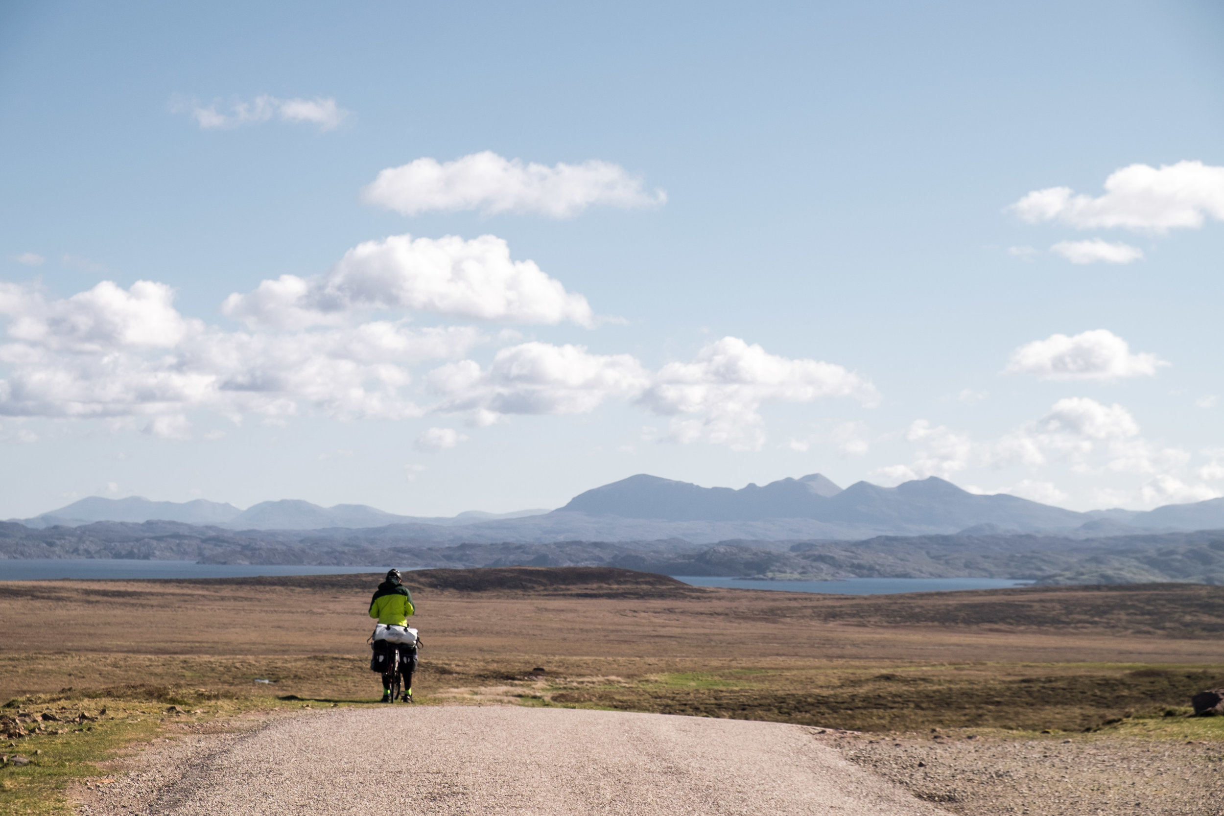 Cycle-touring in Scotland.