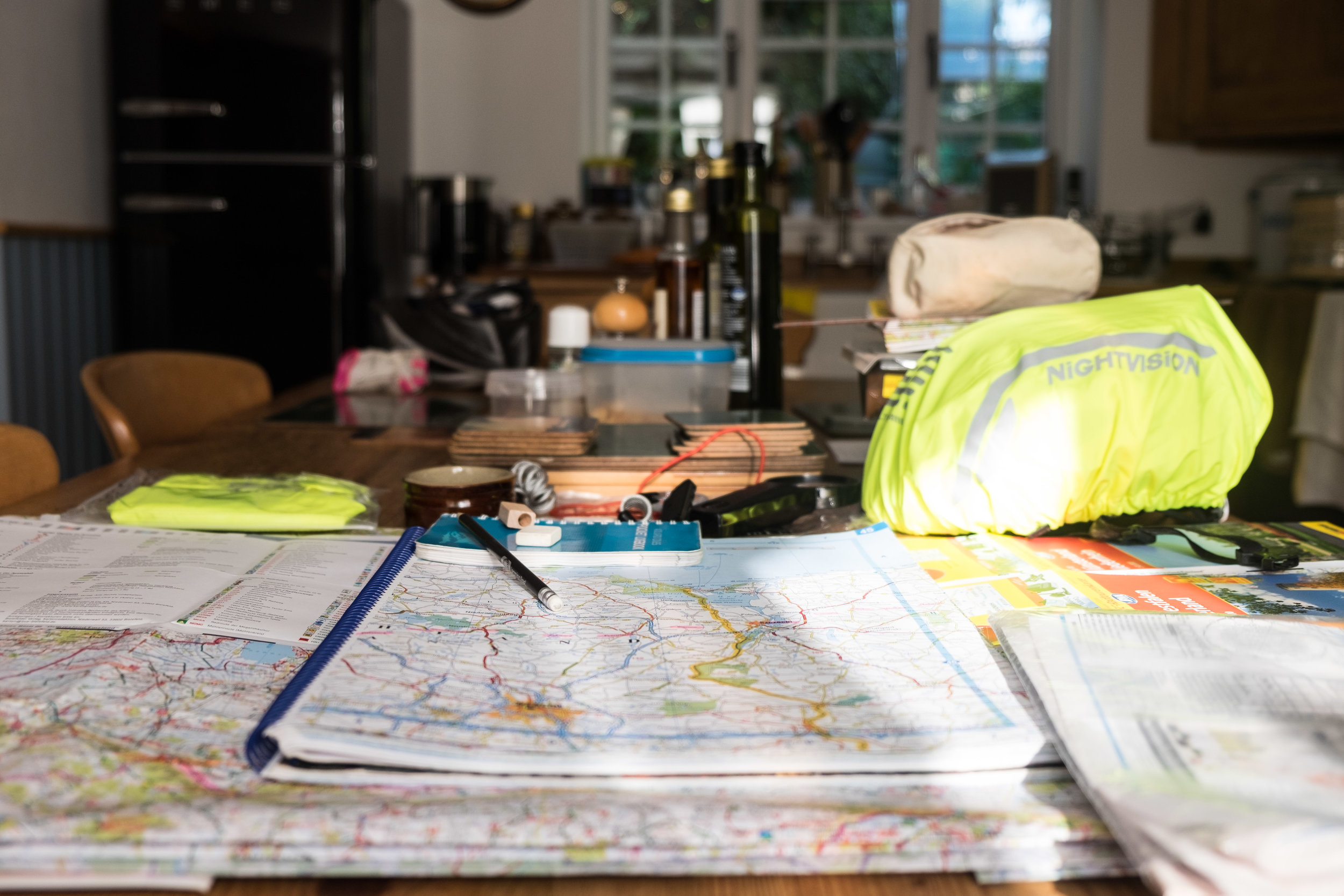 Planning a route.