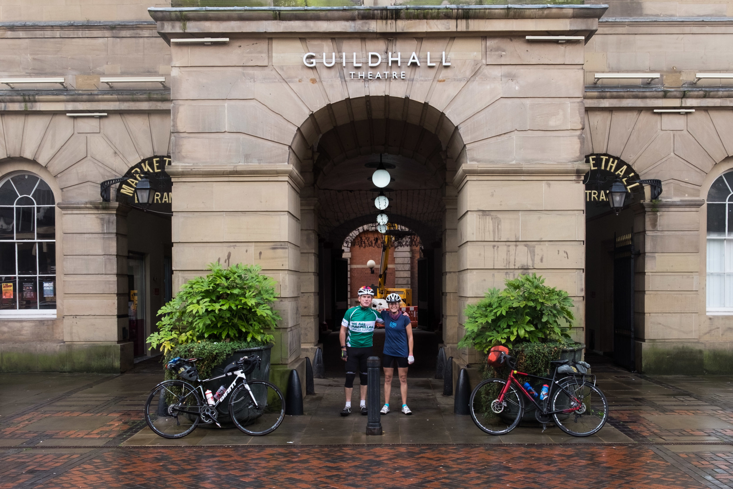 Dad and me at the Guildhall in Derby on day 1.
