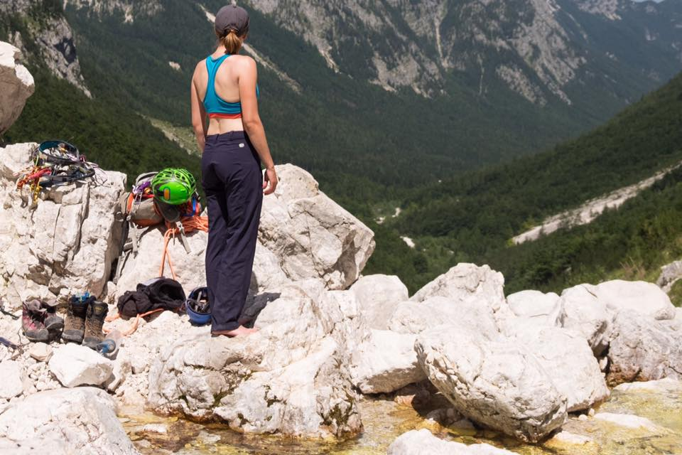 Recovering after bailing off Triglav's North Face.