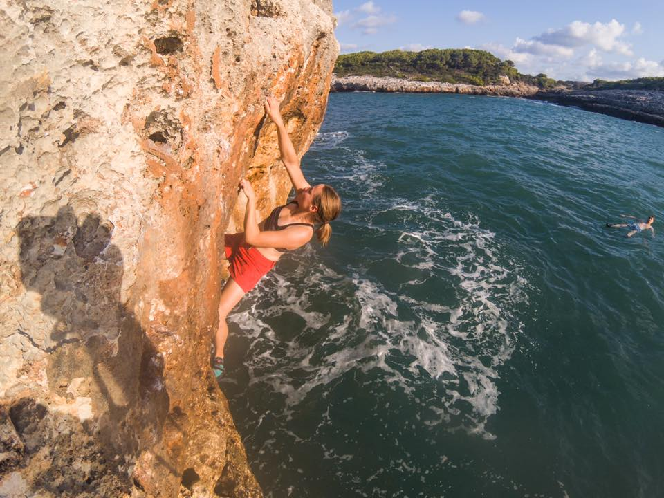Deep Water Soloing in Mallorca.