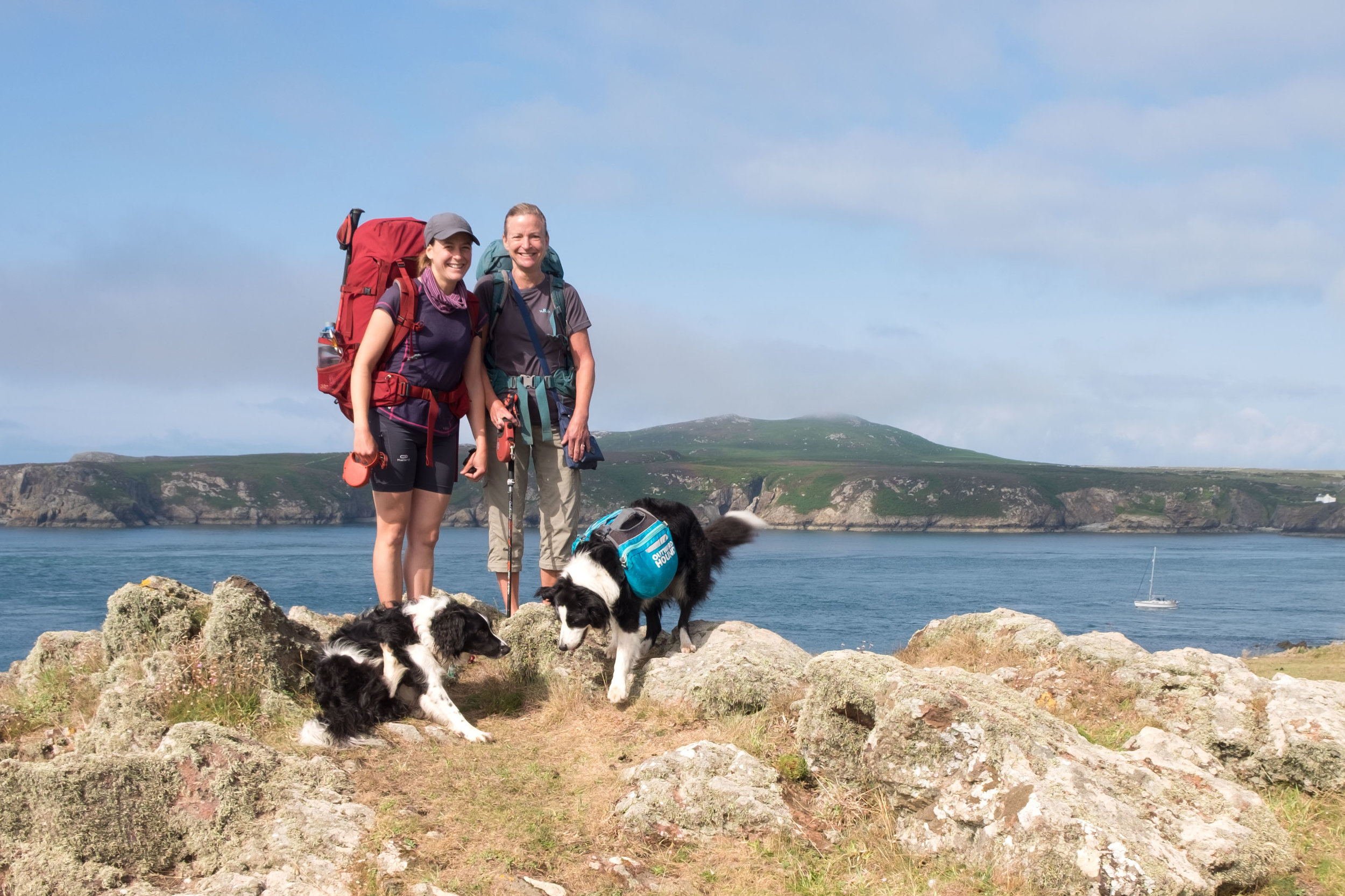 Me, Mum, Bella and Ozzy on the Pembrokeshire Coast path.