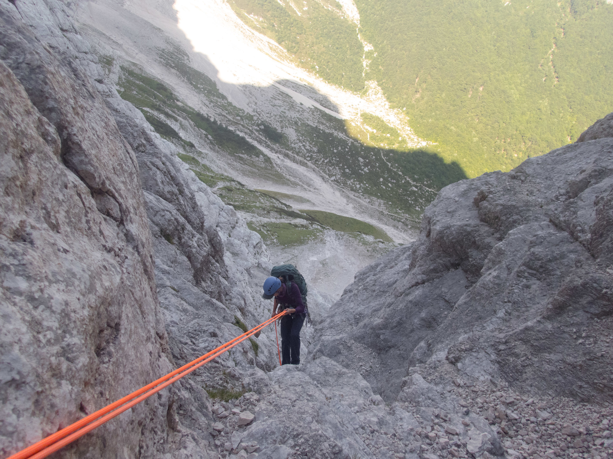 Bailing off Triglav in 2017.