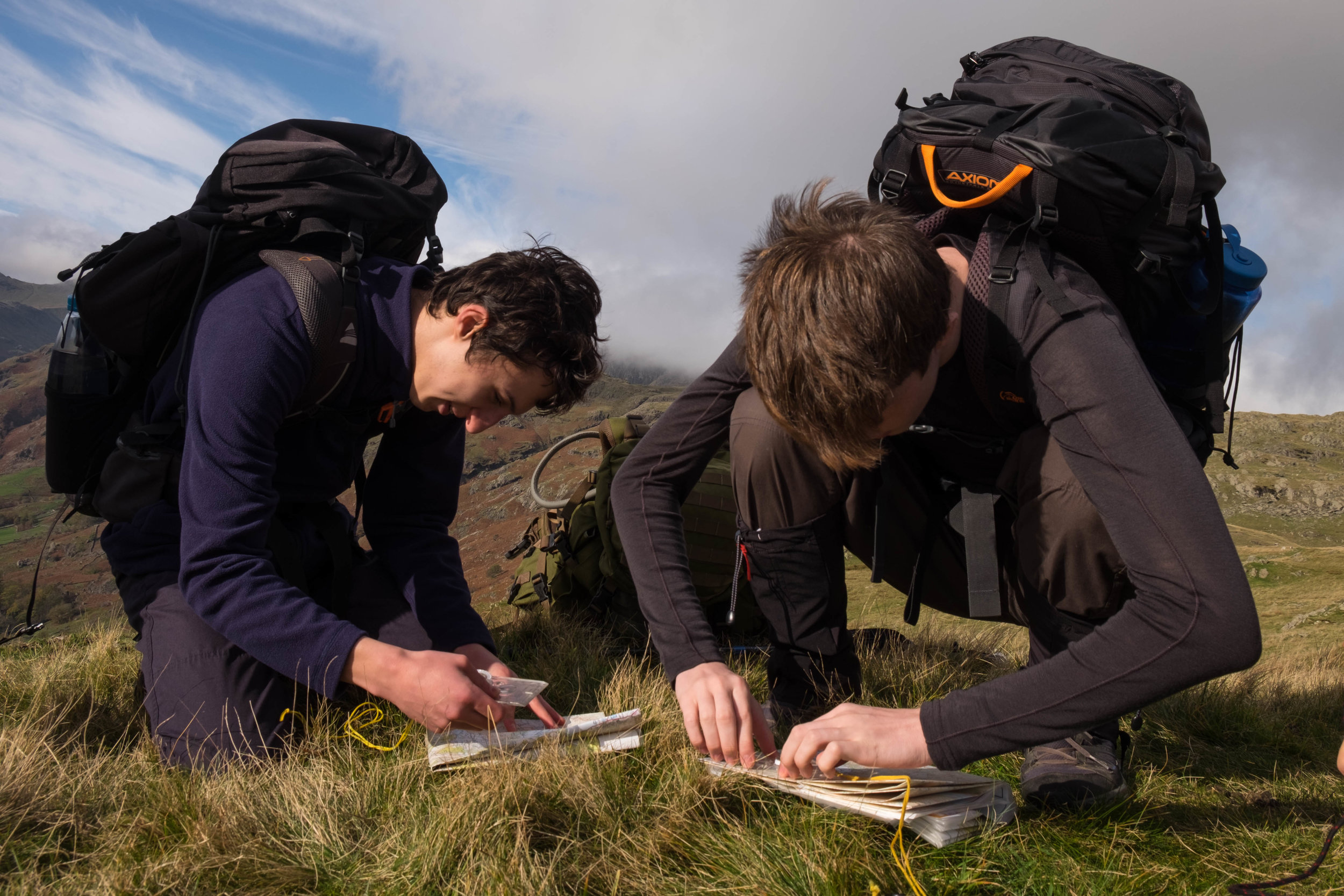 Teaching navigation in the Lake District a few days before my IML training.