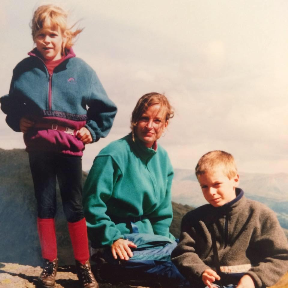 Me, my brother Aleks and Mum on the Old Man of Coniston.