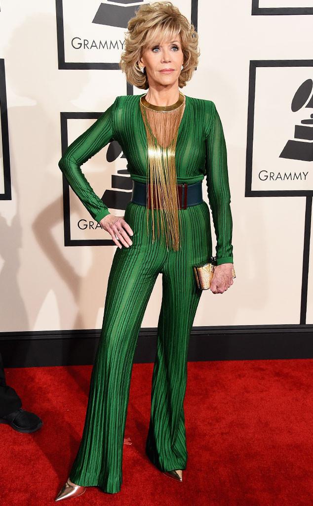 Jane Fonda Balmain Grammys