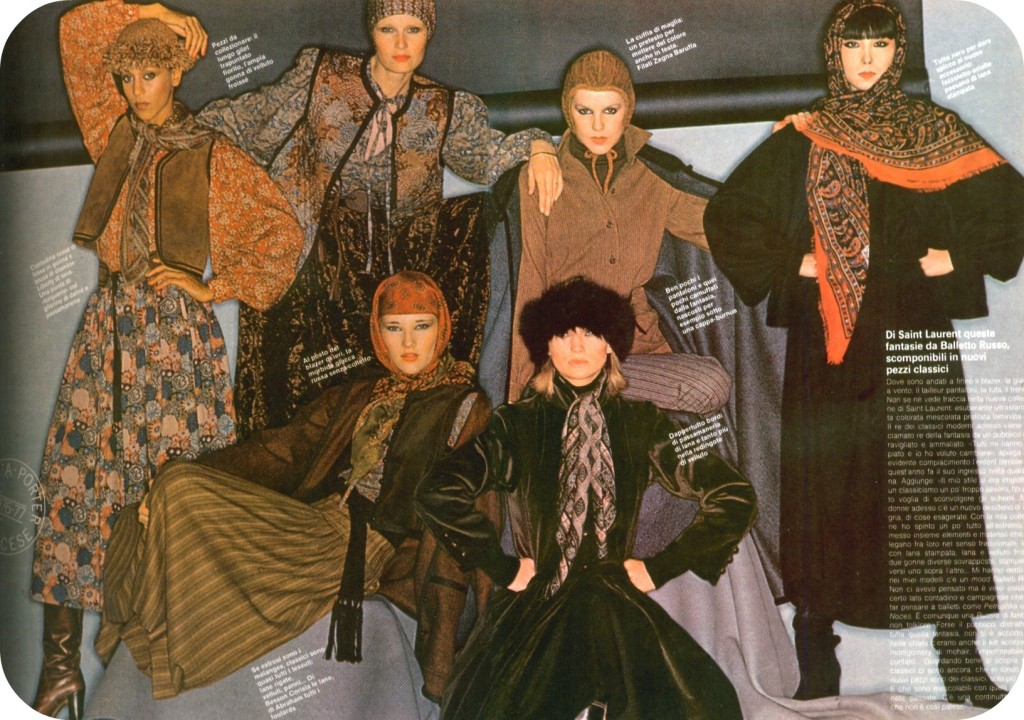 11 Yves Saint Laurent 1976 collection