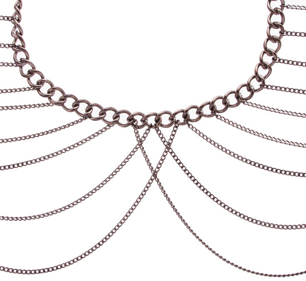 Dominique Shoulder Chain Caviar Noir