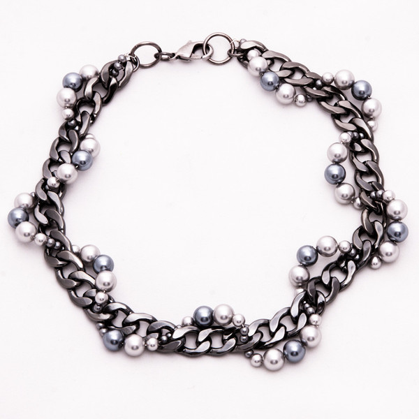 Ophidia necklace Caviar Noir