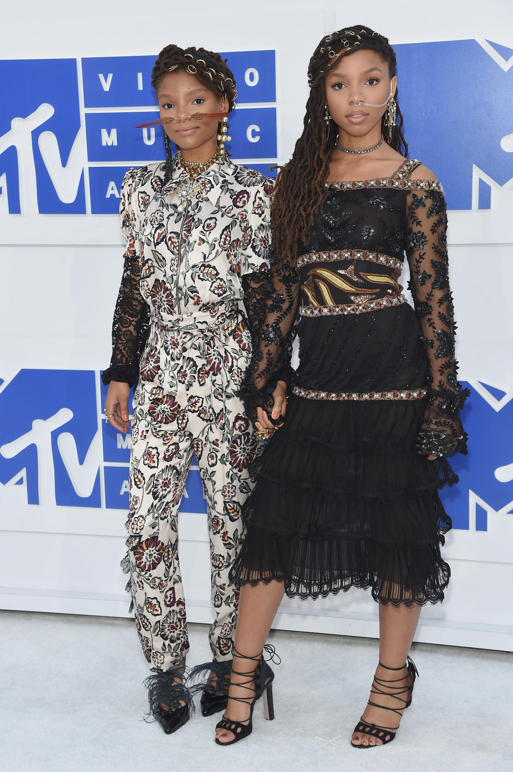 Chloe and Halle Bailey in Rodarte