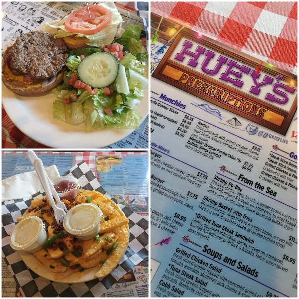 "Huey's ""Prescription"" included a classic 1/3b lb burger and bacon cheese fries. So much for that Grilled Chicken Salad which is what I should have ordered."