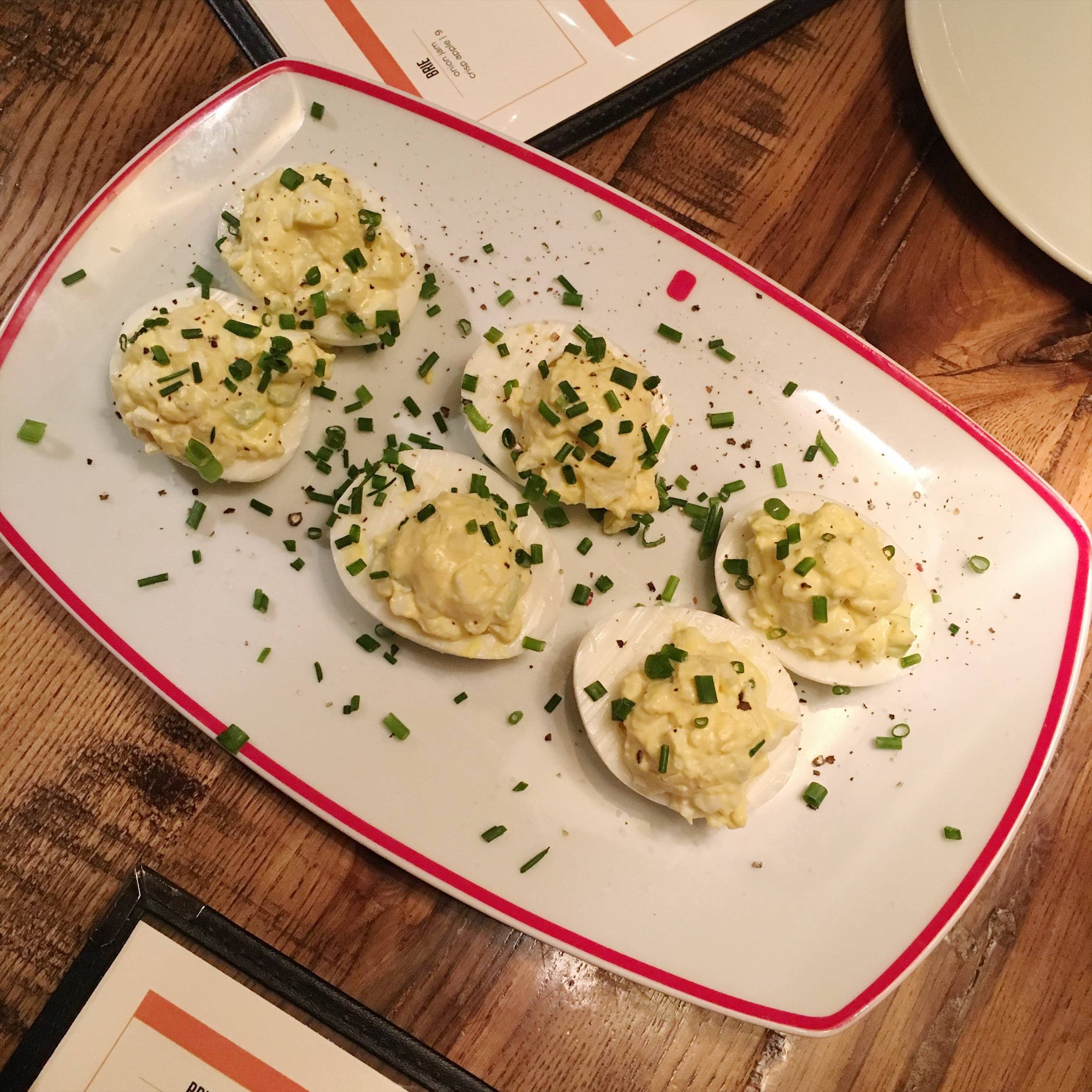 The most perfectly prepared deviled eggs