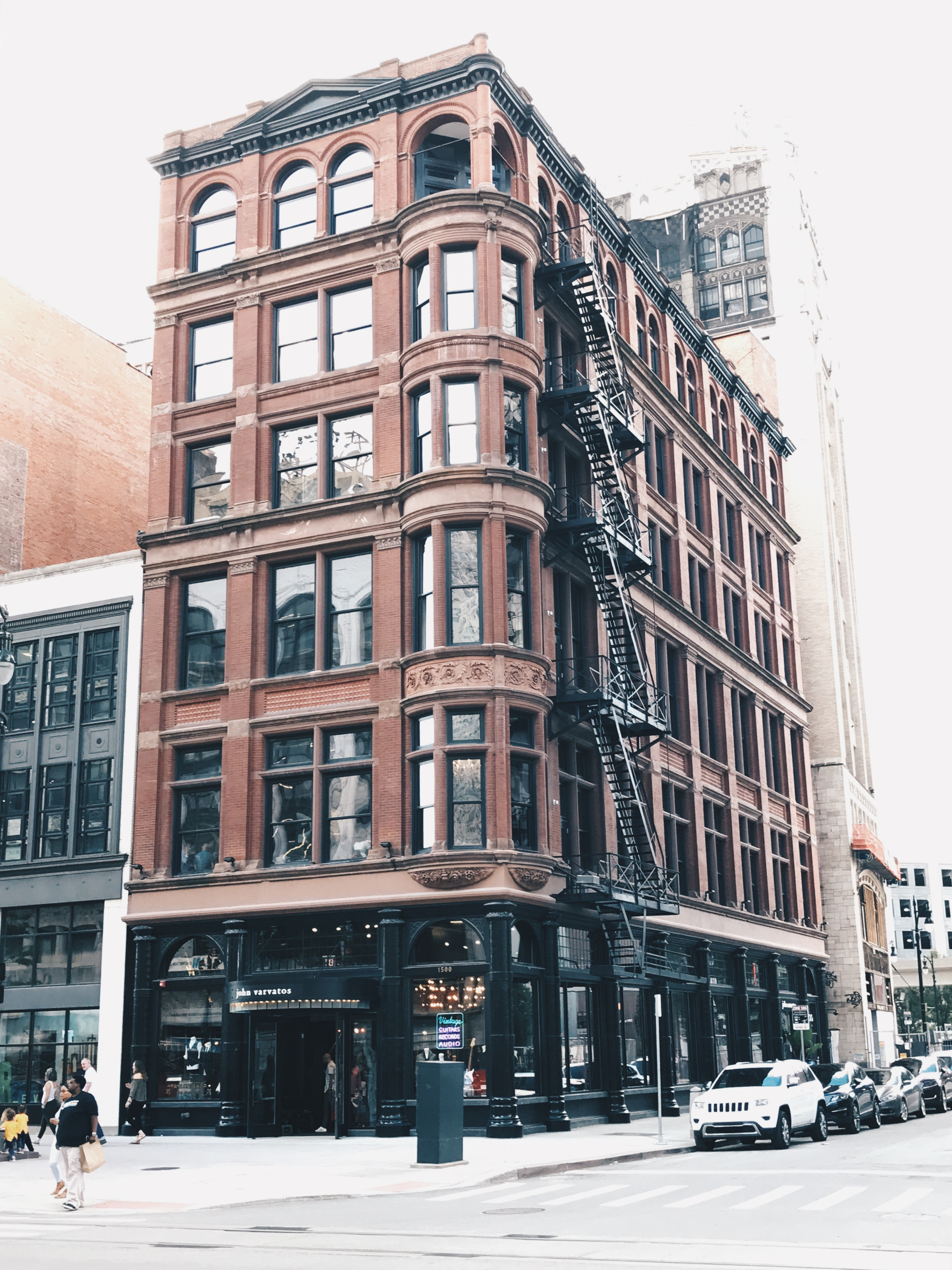 The building that houses John Varvatos and Wright & Co.