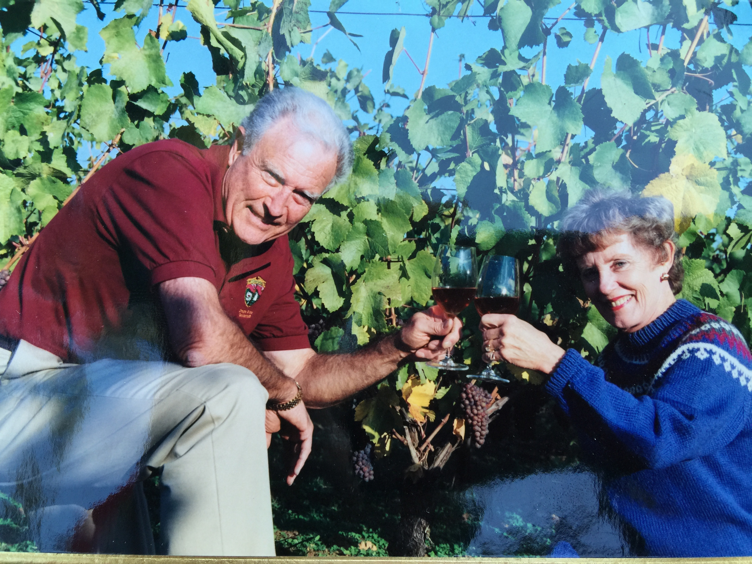 Leigh and Ceille Campbell at Stoneridge Vineyard