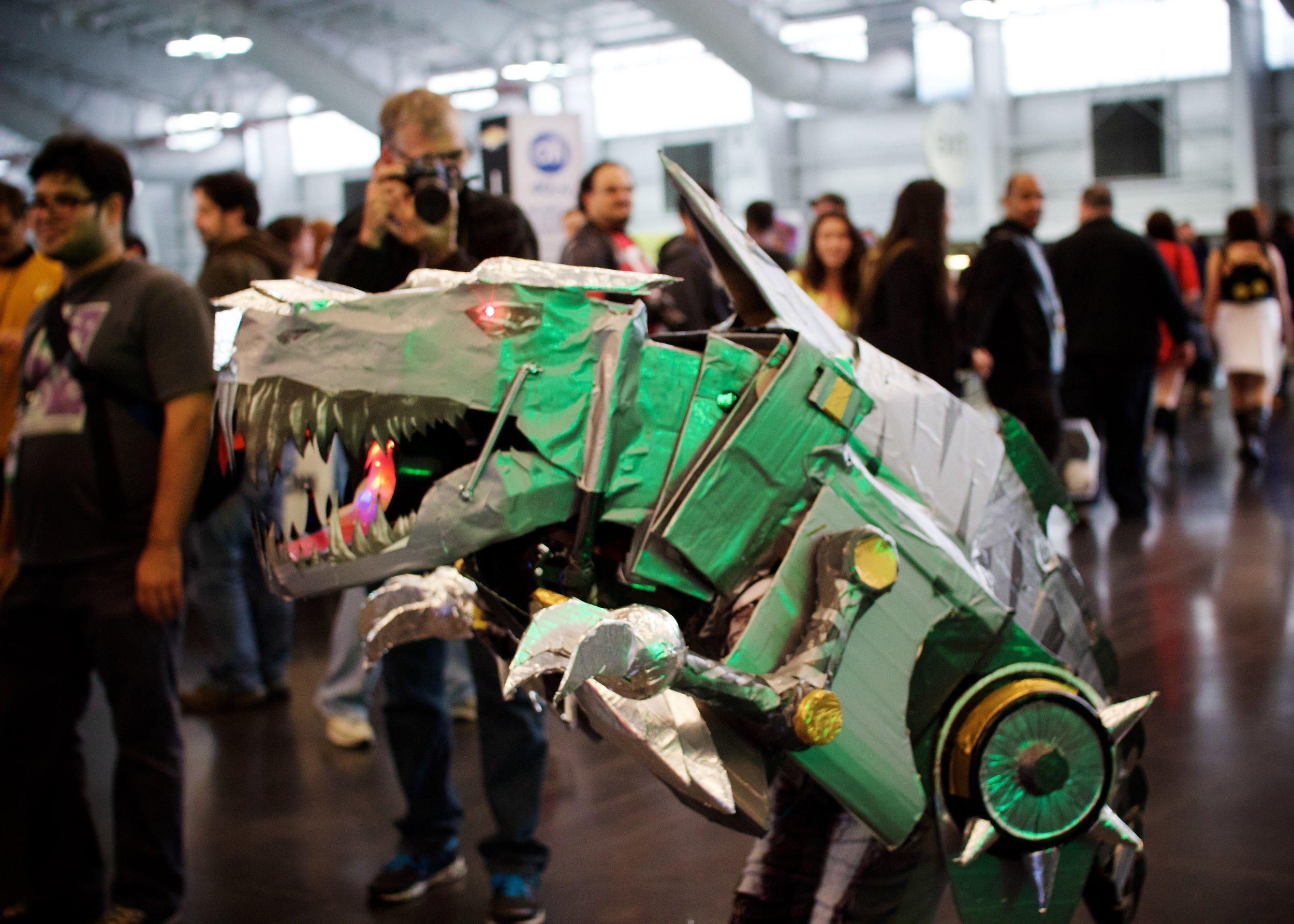 Transformer Loose in Artist Alley
